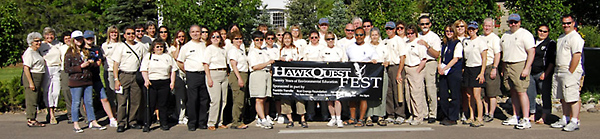 HawkQuest Volunteers and Staff